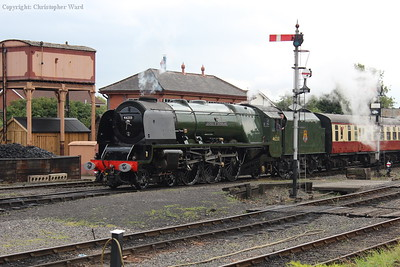 Duchess of Sutherland returns from Bridgnorth