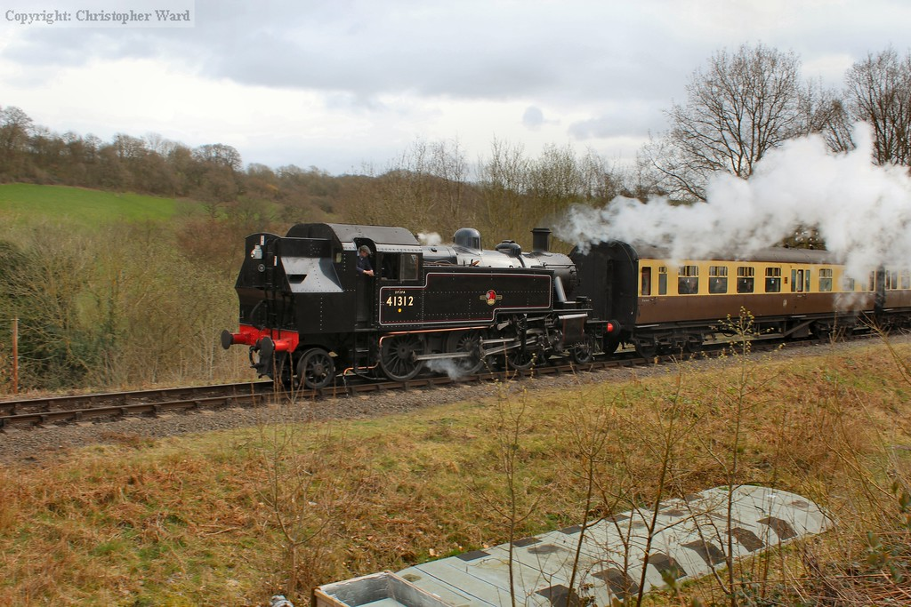 The Ivatt tank approaches Highley