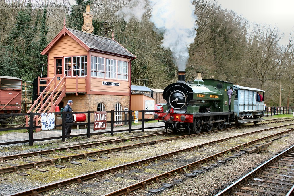 The Port Talbot tank passes Highley signal box