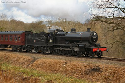 The 7F, a late addition to the gala line-up, gets away from Highley with her first working of the gala