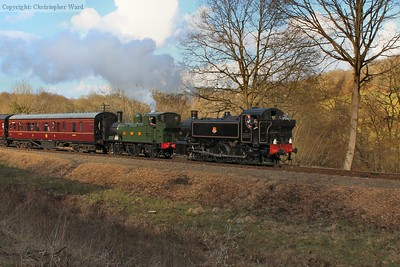 The GWR tanks head back to Kidderminster