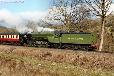 Tornado, in her 10th year of service, draws away from the station
