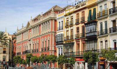 Plaza de San Francisco (2) The buildings over looking Plaza de San Francisco.