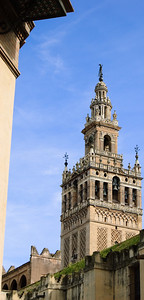 Giralda (1) The Giralda is a huge bell tower on one of the corners of the cathedral and can be seen from almost all parts of the city (assuming there isn't a building in your way).
