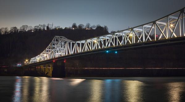 Wide Bridge at Night