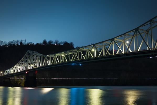 Wide Bridge at Night II