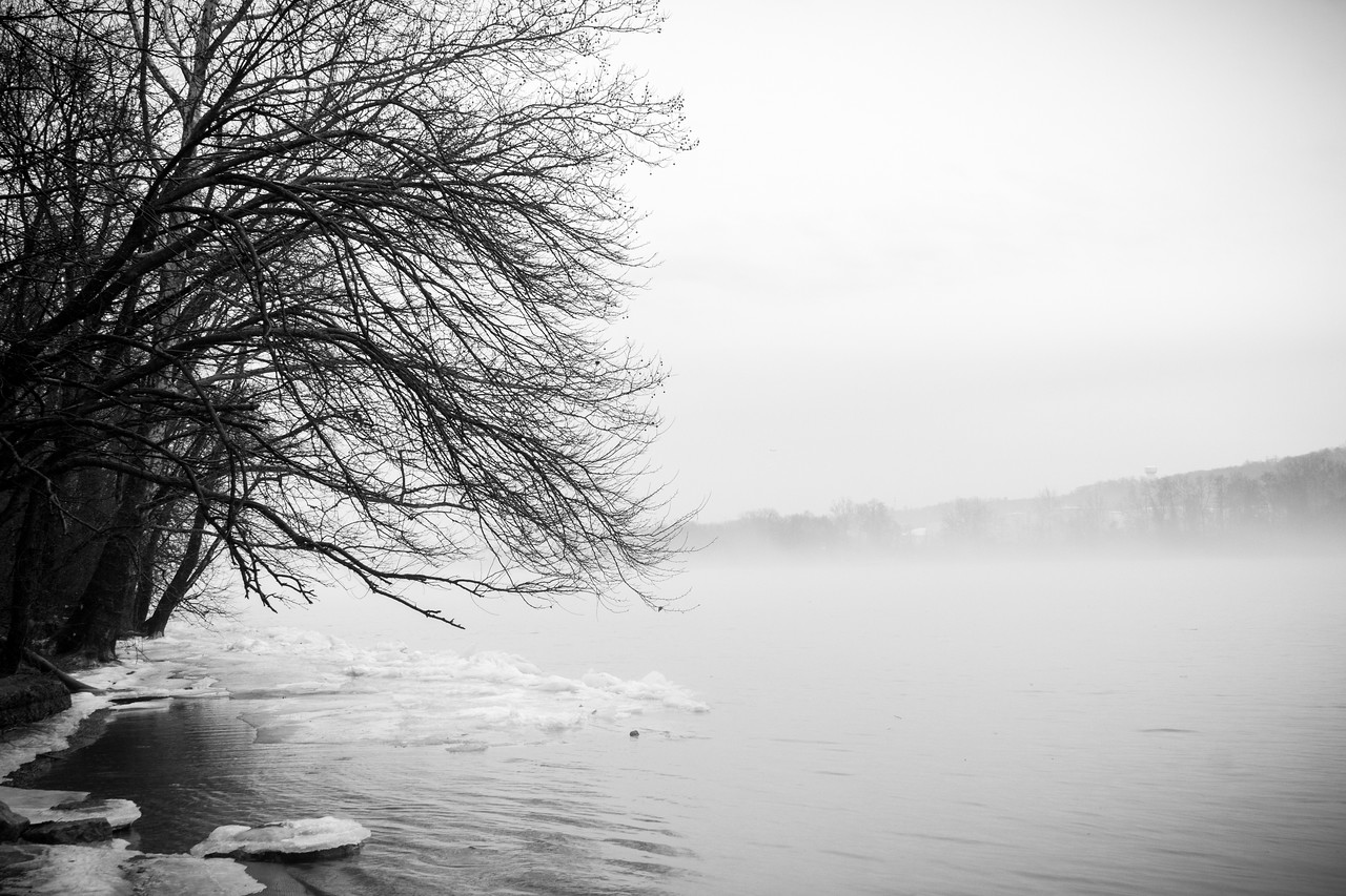 Winter Water in Black and White