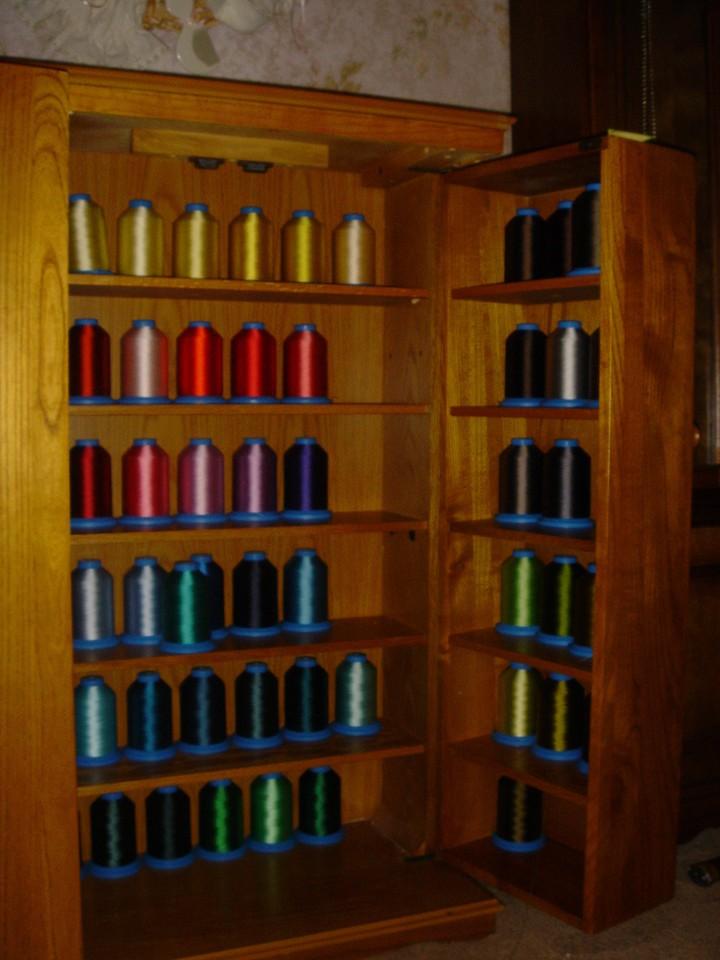 Thread cabinet interior view 2