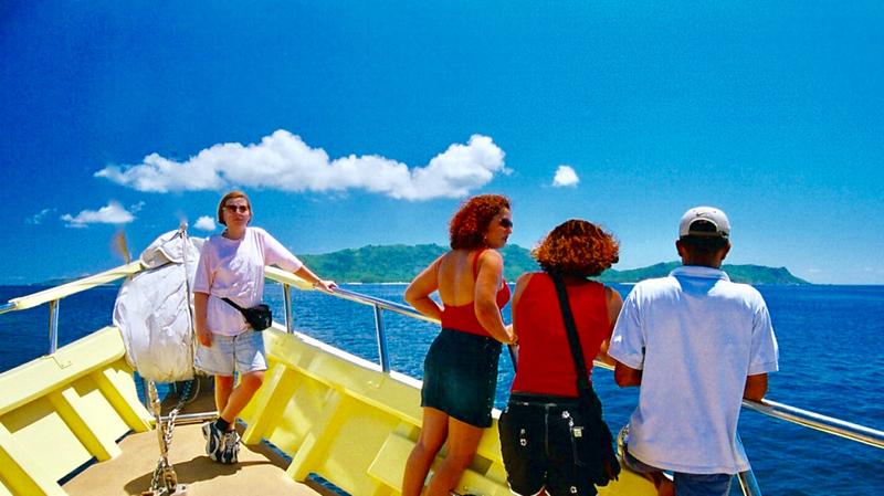 Loďou z ostrova Praslin na ostrov La Digue