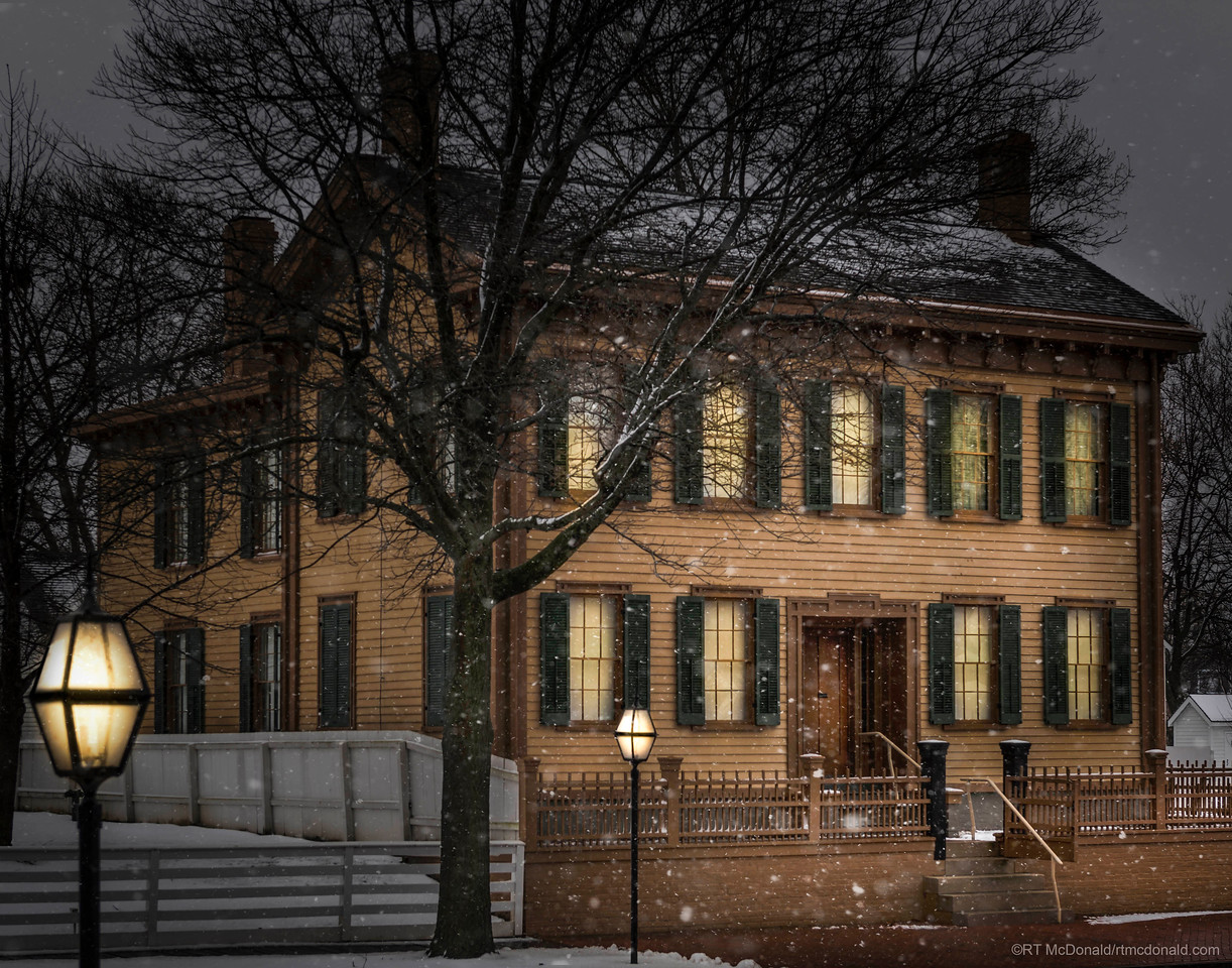 Abraham Lincoln Home in Snow