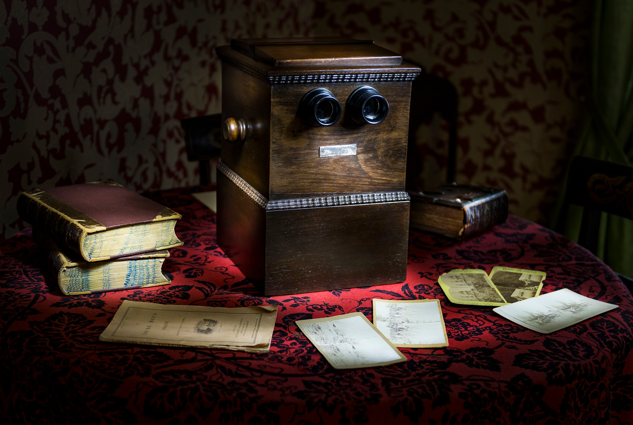 Lincoln Stereoscope Light-Painted