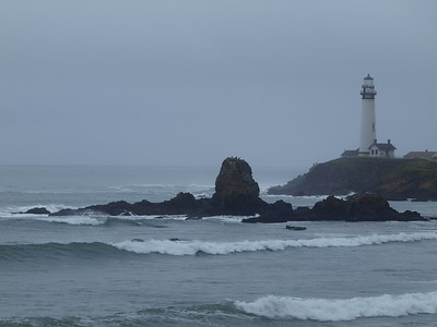 Lighthouse with King Tides