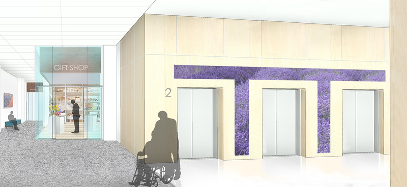 Elevator Lobby Mock-up (Lavender)