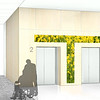 Elevator Lobby Mock-up (Field of Yellow Flowers)