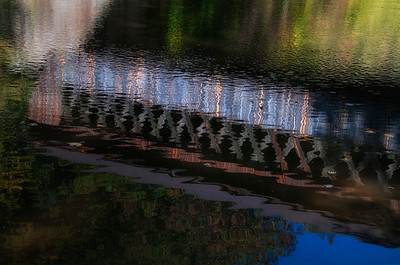 Cover Bridge Water Reflection