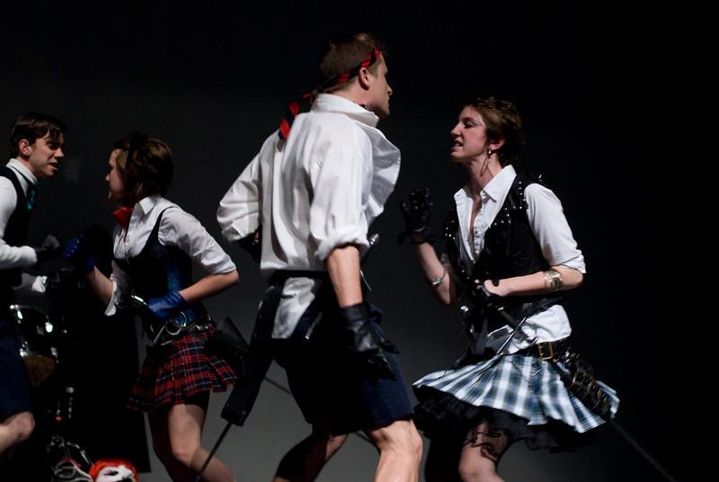 Mercutio and Tybalt<br /> <br /> Max Baumgarten and Nika Ezell Pappas