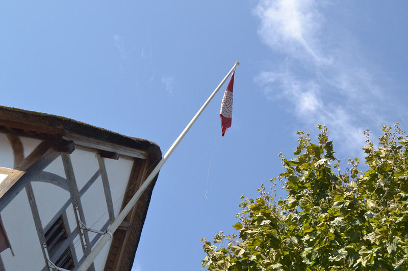 Flag raised at the Globe Theatre, London