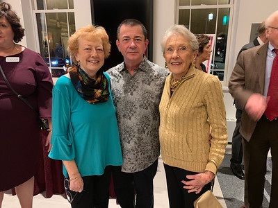 From left, Mary and Joe Pyne, and Nancy Donahue, all of Lowell