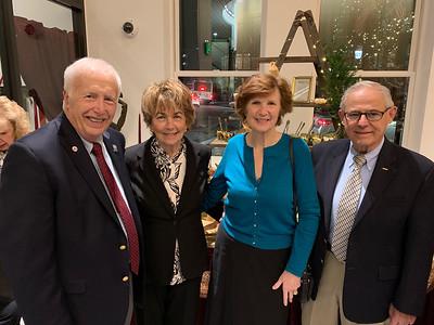 Mayor William Samaras and Joyce Samaras of Lowell, with Sarah Duffey and Herb Pitta, both of Chelmsford