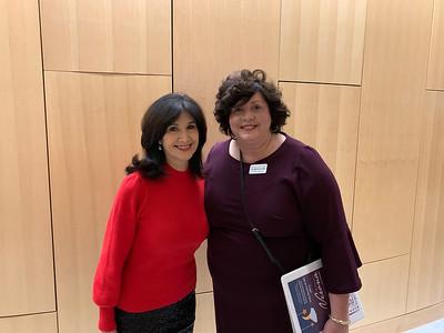 Special guest Joyce Kulhawik and MCC's Judy Burke of Pelham