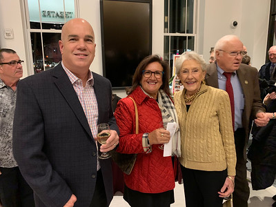 From left, Mark and Elisia Saab, and Nancy Donahue, all of Lowell