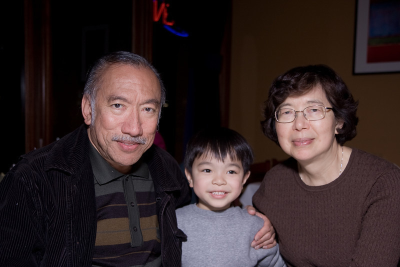 Cyrus with his Grandparents.