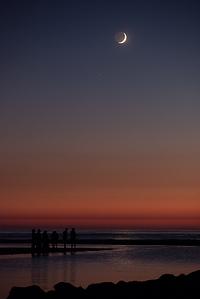 Crescent Moon & Mars