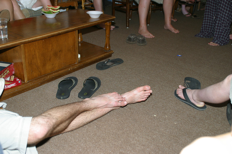 More than once during the week, the Duty Flip-flops united on the floor of the Georgia Lodge.