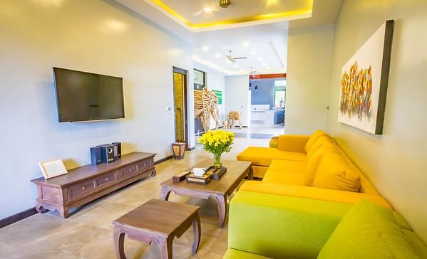 Shamballa Pool Villa Lounge and Tv area