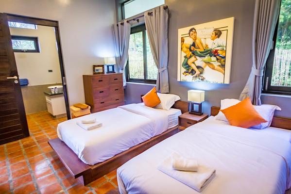 Shamballa Pool Villa Twin Bed Bedroom