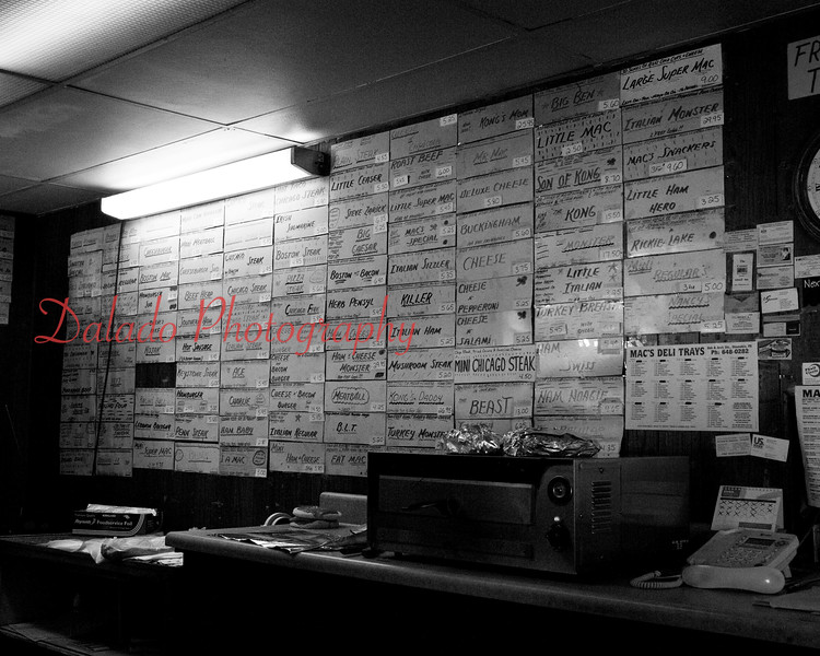 "Mac's Hoagies at Arch and Oak streets, Coal Township, was a popular take-out establishment known for its ""pizza macs"" and dozens of hoagies that closed at the end of March 2015. The walls were covered with hundreds of signs of past-hoagies named after an assortment of things and people. The business was opened by Nancy and Jim McElwee in their apartment on Park Avenue in 1972 with a borrowed $5."