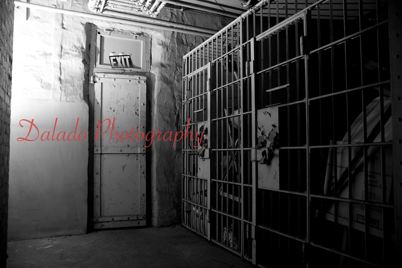 Old jail cells inside Shamokin City Hall.