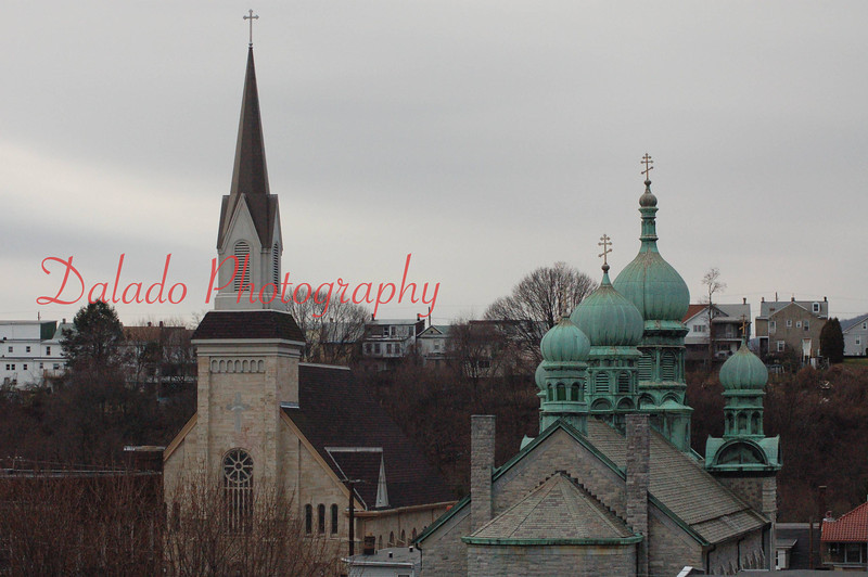St. Edward's Roman Catholic Church & The Transfiguration Ukrainian Catholic Church.