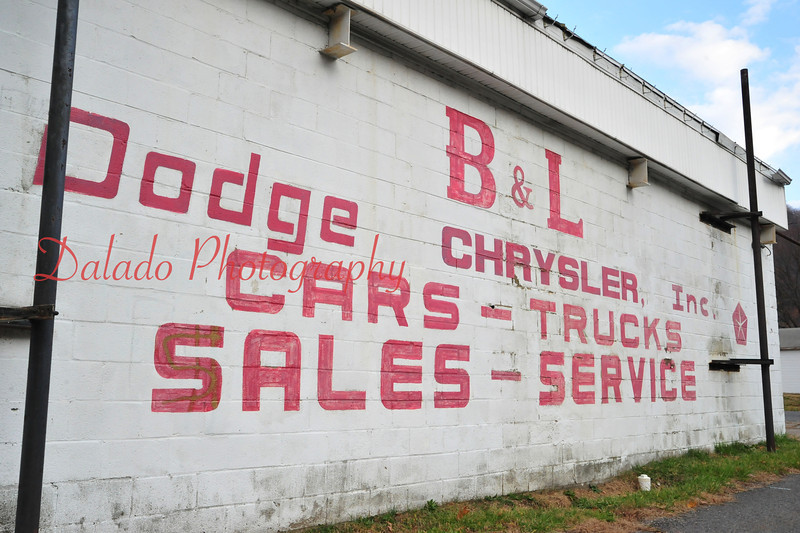 Old painted signage.
