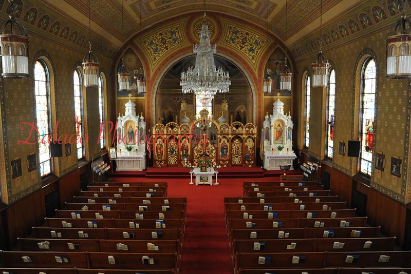 Inside Transfiguration Ukrainian Catholic Church.