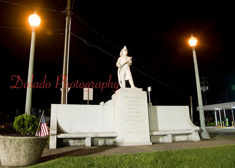 Firefighters Memorial on Market Street.