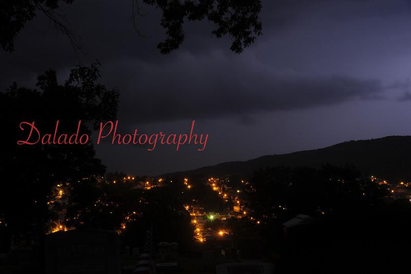 Lightning illuminating a section of Ferndale.