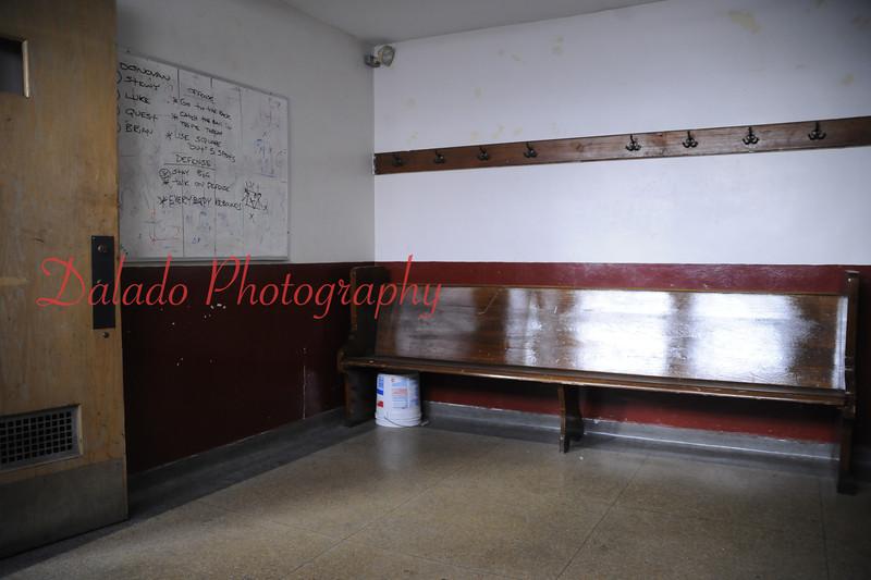 Holy Angels locker room.