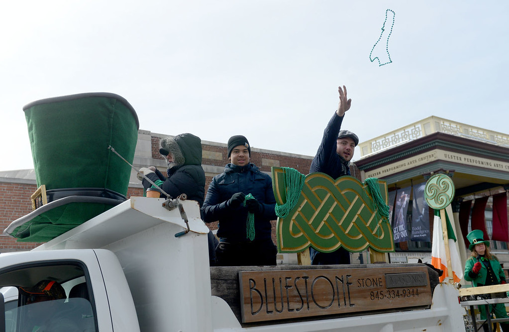 . Tania Barricklo-Daily Freeman Bluestone Masonry , was one of the many floats that participated in the St. Patrick\'s Day Parade Sunday in Kingston, N.Y.