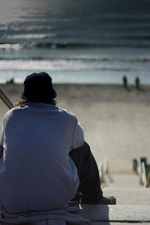 Contemplative Man, San Diego, CA (20130206)