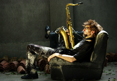 New York saxophone player Alec Haavik, 2009