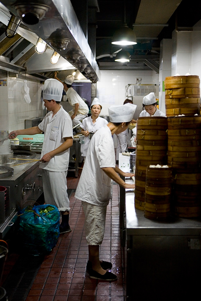 Kitchen prepairing various stuff for hungry Shanghainese. A lot of steamed buns (baozi) with fillings is a popular choice. Most of the food is taken back and enjoyed at home as this stuff is difficult to prepare in a normal small Chinese kitchen