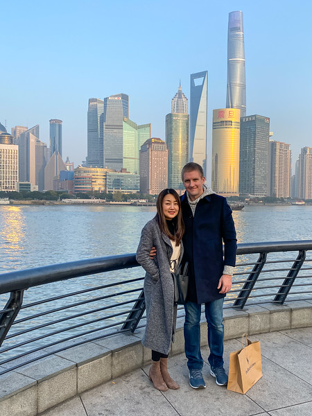 After a nice Birthday lunch, Anna and I took a nice walk down the Bund.