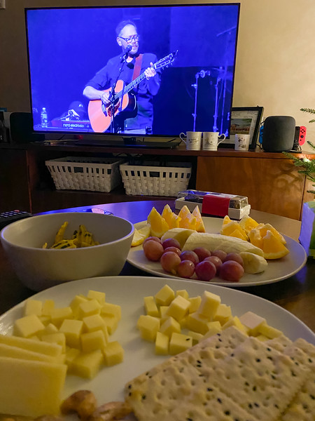 Christmas Night featured a simple meal (we had a big lunch at a Thai restaurant) and a viewing of my holiday tradition of the Behold the Lamb of God concert held annually at the Ryman.