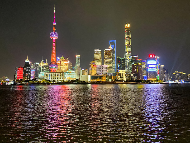 The iconic skyline of Shanghai.
