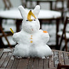 Snow rabbit by the office ladies