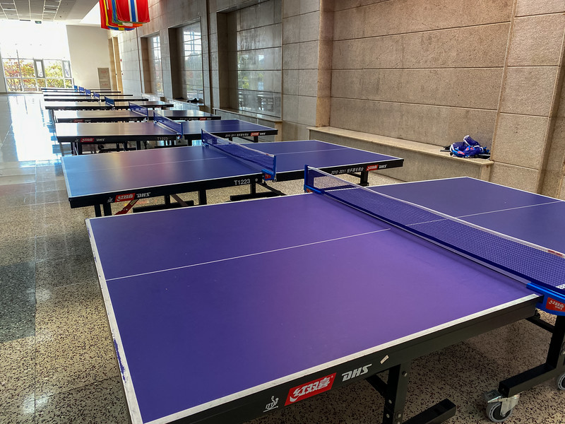 PE class in China isn't messing around when it comes to ping pong!