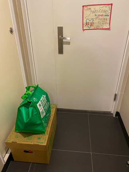 Online grocery shopping in China is nice - they bring it right to your door and it's waiting for you when you get home!  Everything is done by delivery here...pretty handy!