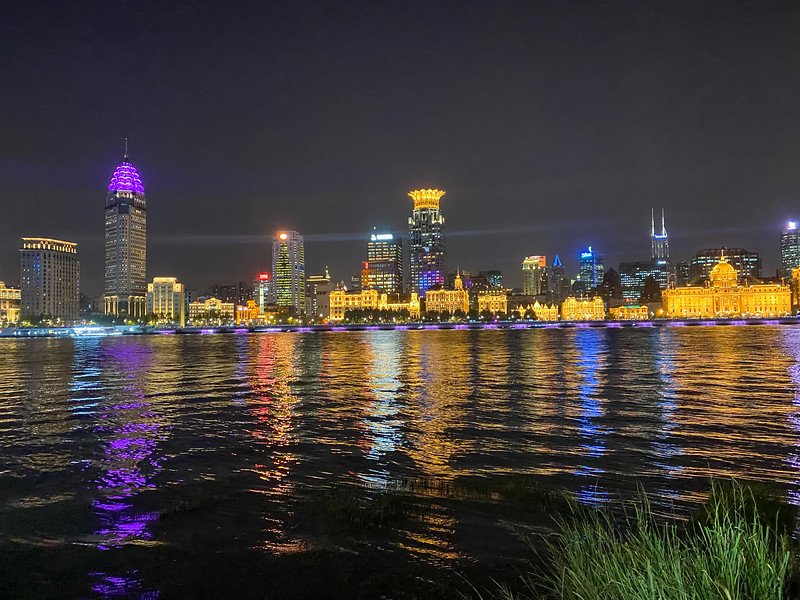 """A view across the Hongpu River of the """"Puxi"""" side of town.  Puxi literally means """"West of River""""...I'm in Pudong - """"East of River"""""""