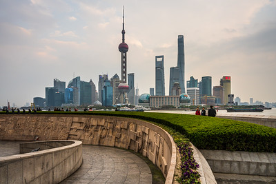 View of Pudong skyline at The Bund